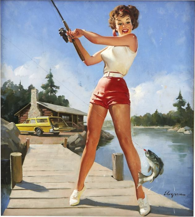Sexy ilustraciones vintage de chicas PIN-UP.