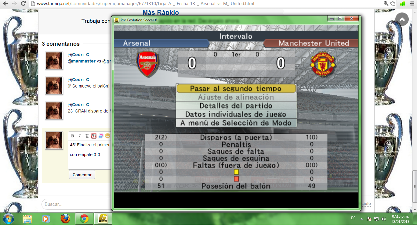 Liga A | Fecha 13 | Arsenal 2 vs 0 M. United
