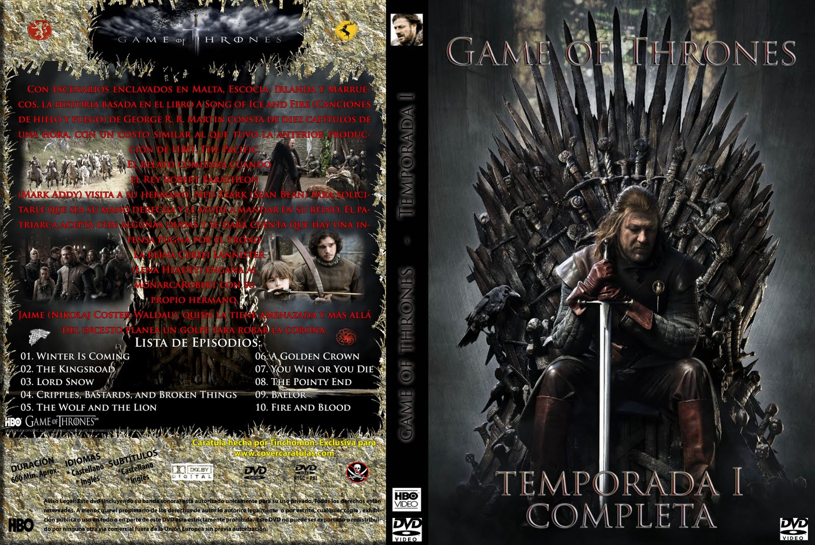 Serie]Game of Thrones Temp.1 y 2 Sub.
