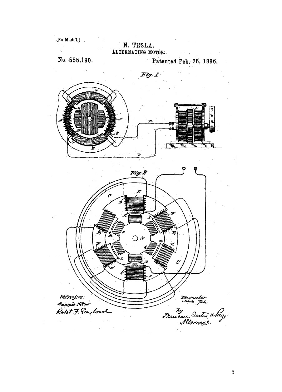 tesla car motor diagram