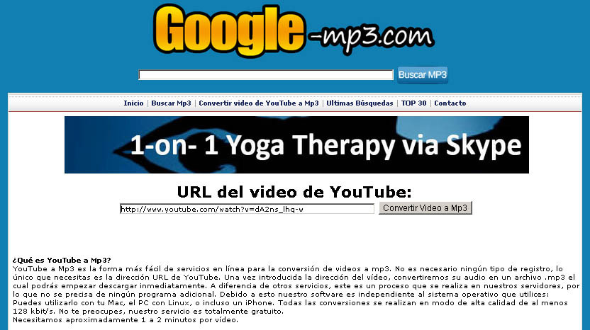Convertir un video de YouTube a Mp3