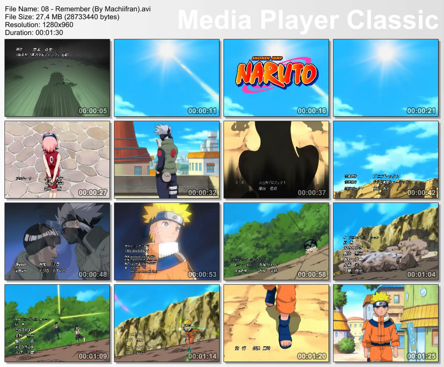 [Mi subida] Openings de Naruto [AVI][HD x960][MF]