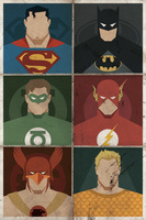Justice League Faces  @wayne2 @el_nemo_o @conejotonto @aol_k @ricardowin @la_tarantulaII @_The_Lightning_