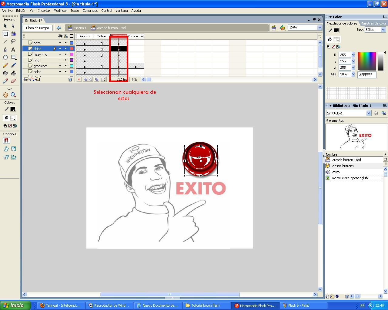 Tutorial flash crear boton, +5 si te sirvio