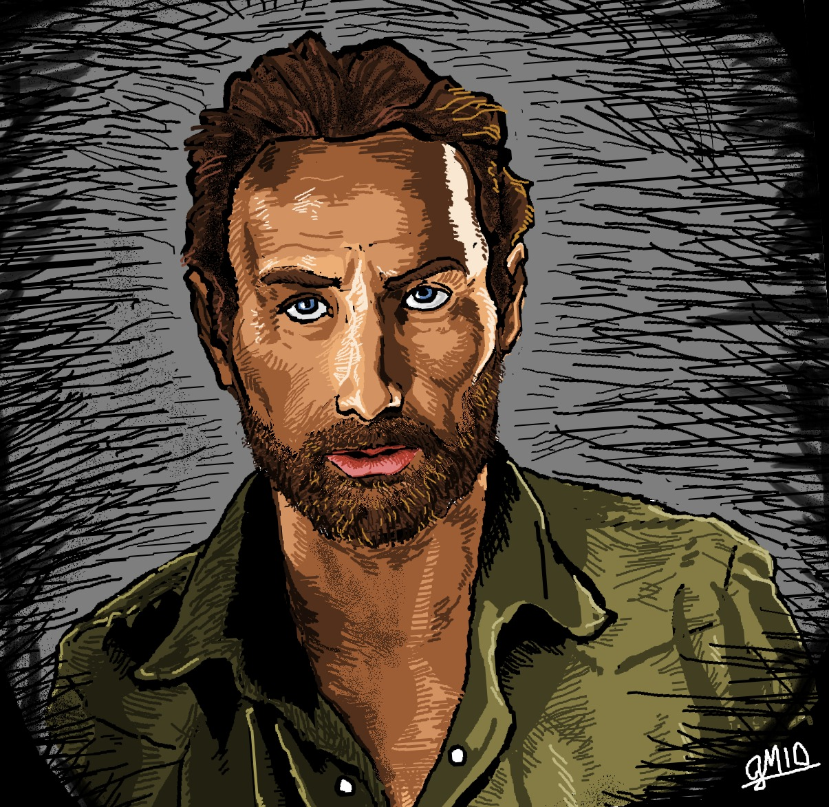 Dibujé a los personajes de The Walking Dead... con MS PAINT