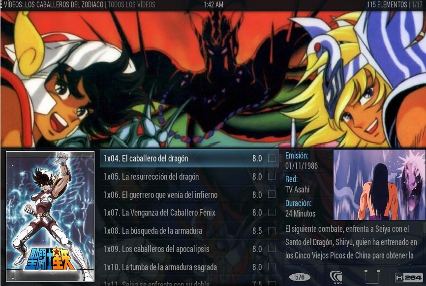 Animes y Series en un centro multimedia XBMC