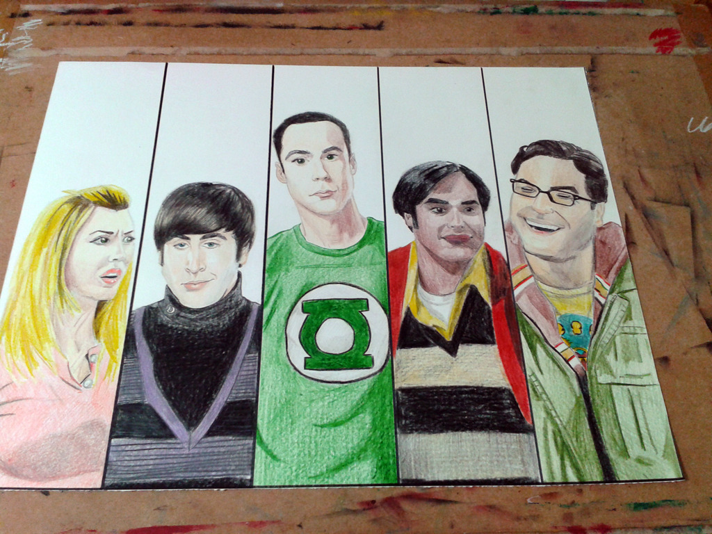 Mi dibujo de the big bang theory