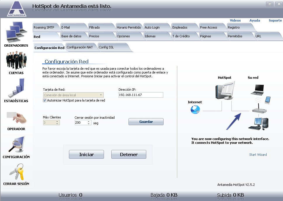 Crear un portal cautivo por Software.
