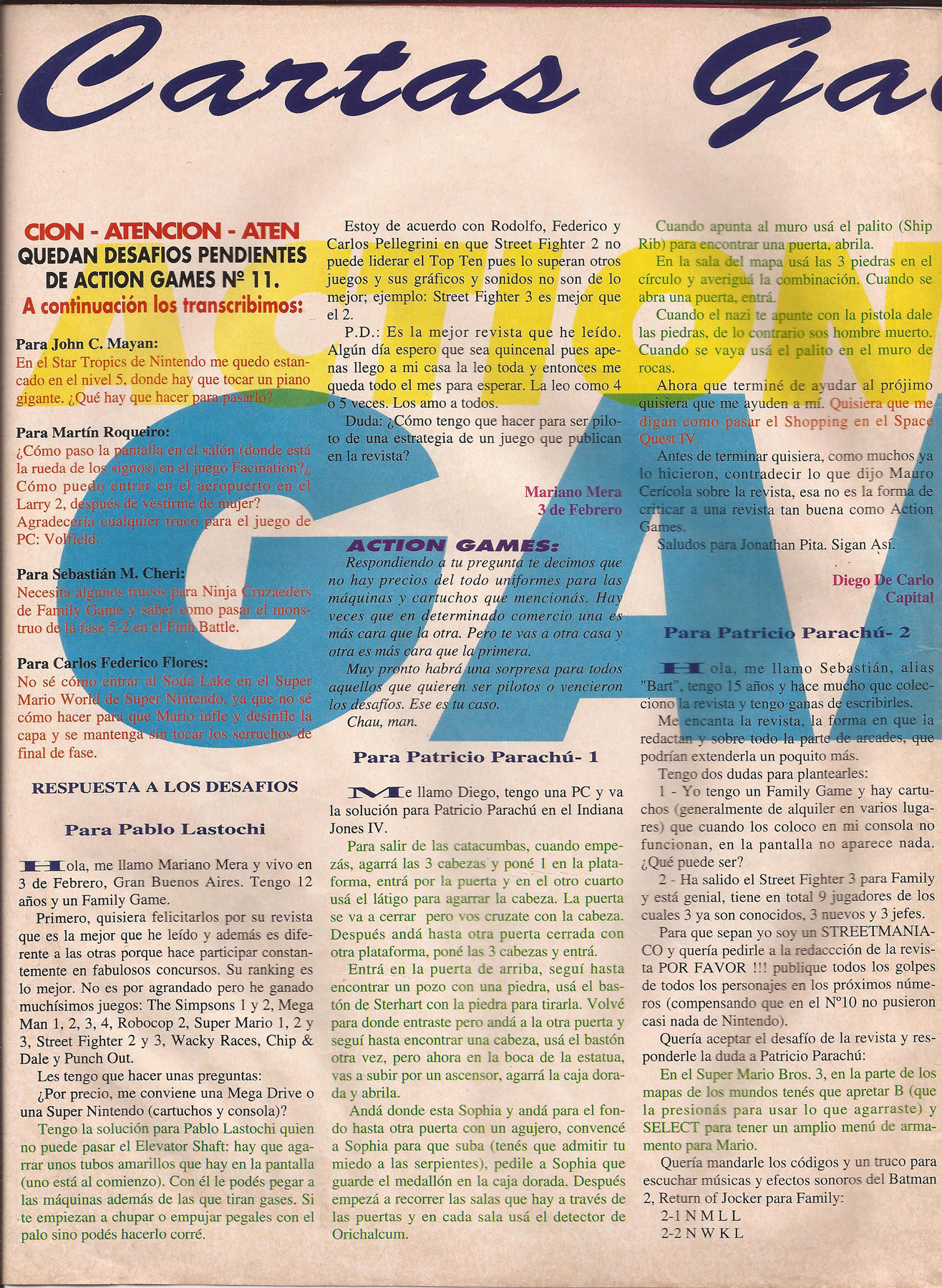 Revista Action Games escaneada Nro 12
