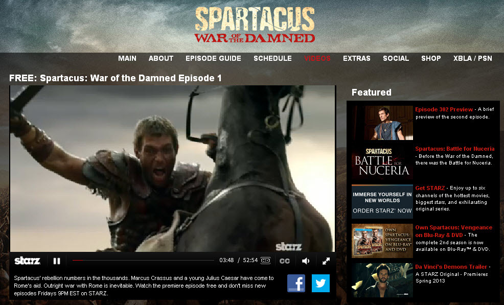 Spartacus war of the damned Episode 1: Capitulo Completo