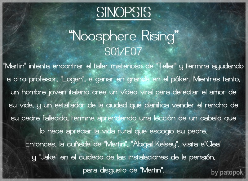 """[Serie]Touch S01/E07""""Noosphere Rising""""(MF/JF)"""